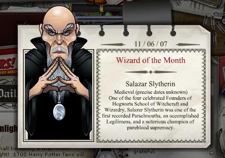 Harry Potter Computerspiel Website